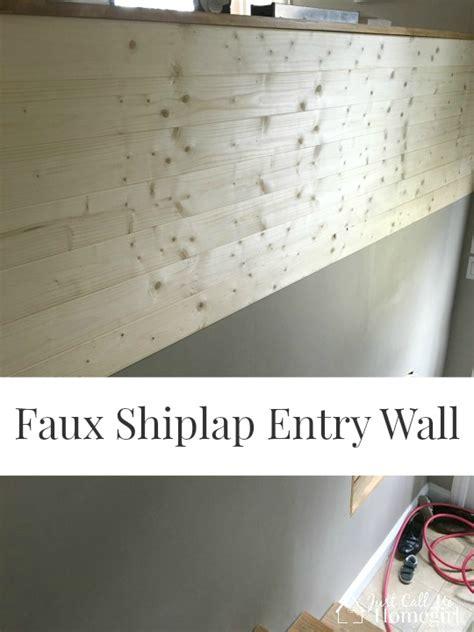 Faux Shiplap Wall Faux Shiplap Entry Just Call Me Homegirl