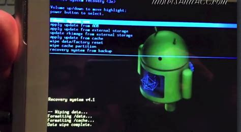 reset android device from pc android tablet pc hard reset reboot youtube