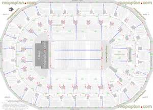 mts centre detailed seat row numbers end stage concert sections floor plan map with arena