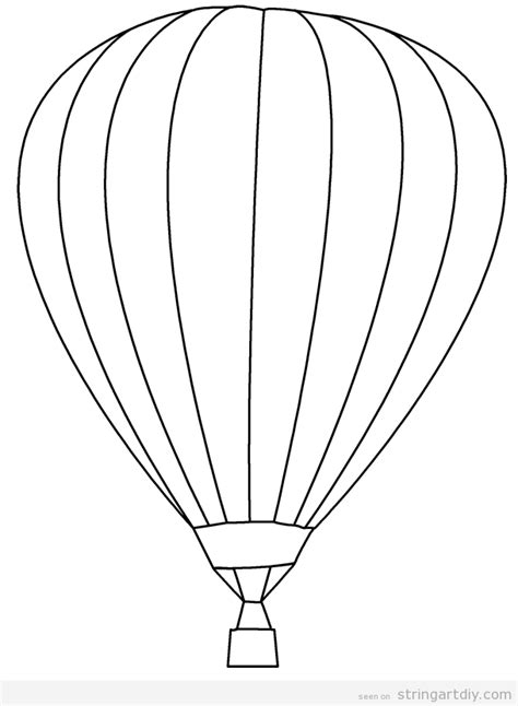 air balloon templates free string diy ideas tutorials free patterns and