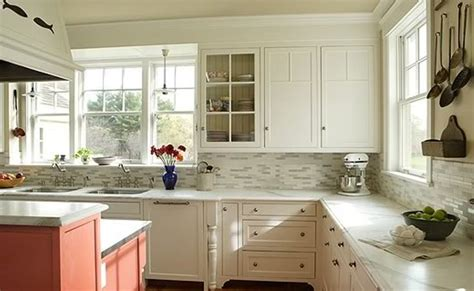 white kitchen with backsplash pinterest
