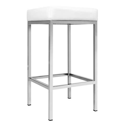 Set Of 3 Backless Bar Stools by Artiss Set Of 2 Pu Leather Backless Bar Stools White