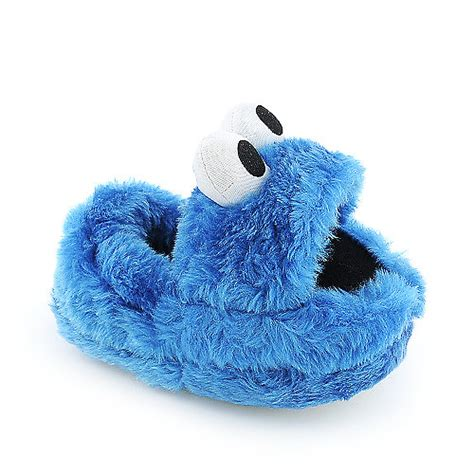 cookie monster house shoes stride rite cookie monster toddler slippers