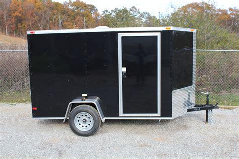 black trailer a black 6x10 enclosed trailer for sale