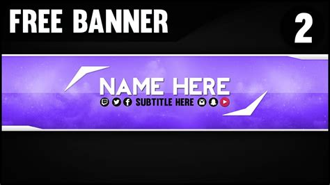 free 2017 youtube channel art banner photoshop template uxfree com