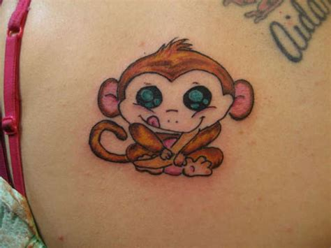 45 cute monkey shoulder tattoos design