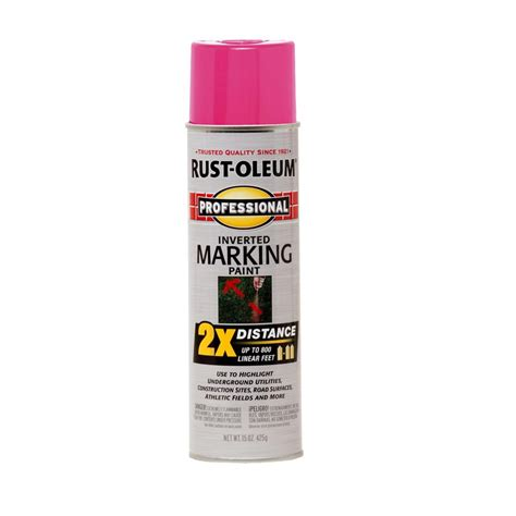 shop rust oleum 15 oz fluor pink flat spray paint at lowes