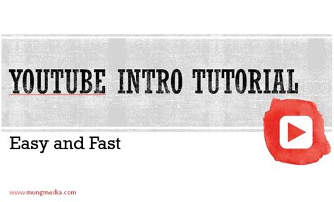 easy html tutorial youtube youtube intro tutorial is easy and fast mung media