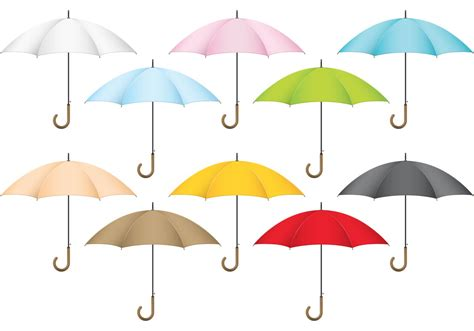 Colorful Patio Umbrellas Colorful Vector Umbrellas Free Vector Stock Graphics Images