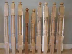 hton hardwood balusters 1 3 4 in base pin top