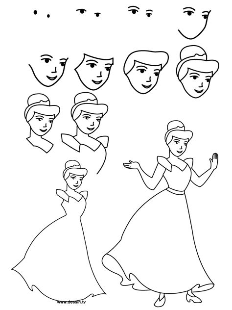 Drawing Step By Step Disney Characters by Pictures Learn To Draw Princesses Drawings Gallery