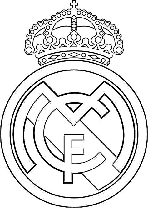 escudo del madrid para colorear az dibujos para colorear dibujos colorear futbol madrid ideas creativas sobre