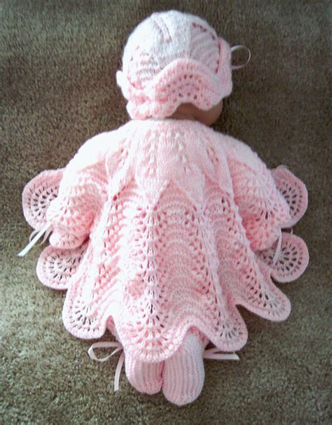 Handmade Knitted - custom handmade knit baby or reborn dolls pink