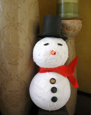 How To Make Paper Mache Snowman - paper mache snowman activity education
