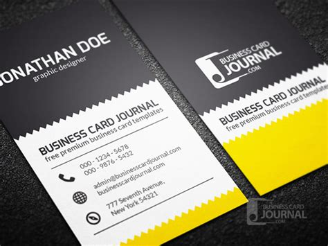 4 Side Free Psd Business Card Templates by 80 Best Free Business Card Psd Templates