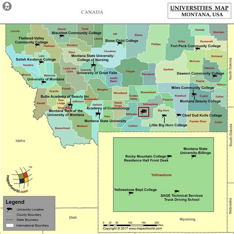 colleges in montana list of universities in montana map of montana