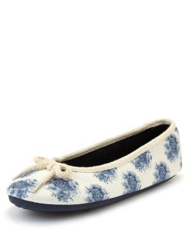 slipper boots marks and spencer m s collection floral ballerina slippers marks spencer