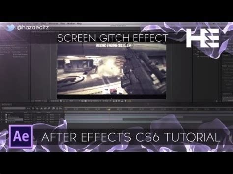 tutorial after effect youtube screen glitch effect adobe after effects tutorial youtube