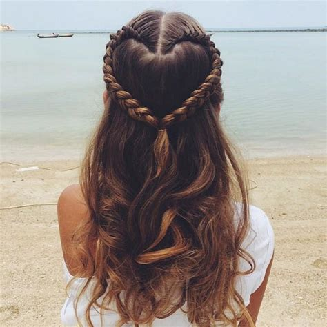 braided hairstyles heart heart braid