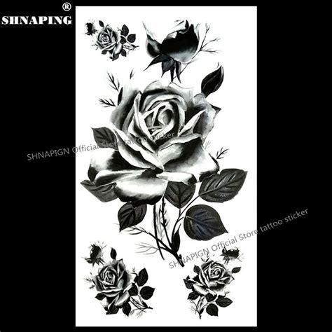 black typical tattoo sticker buy tattoo sticker body shnapign black france roses temporary tattoo body art arm
