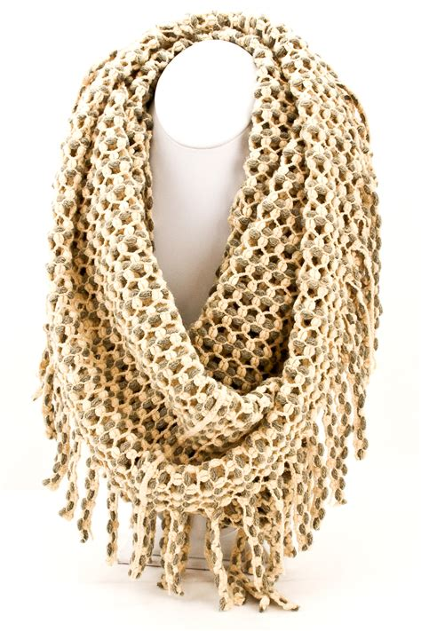 how to make fringe on a knitted scarf knitted fringe infinity scarf scarves