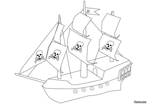dessin bateau simple coloriage bateau pirate simple dessin gratuit 224 imprimer