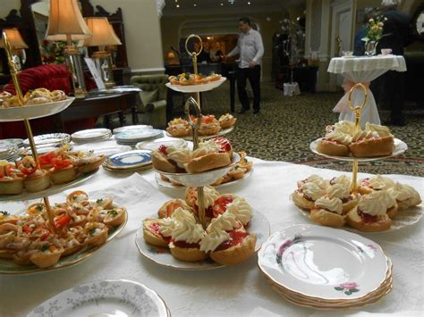 afternoon tea style wedding reception at fitzgerald s woodlands house hotel adare ireland