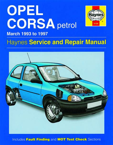 automotive maintenance light repair books opel corsa petrol mar 93 97 haynes publishing