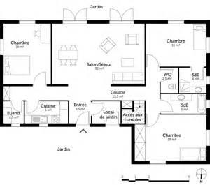 plan 3 chambres et 2 salles de bain ooreka