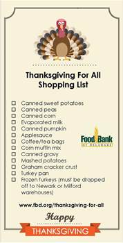 thanksgiving for all food drive update active adults