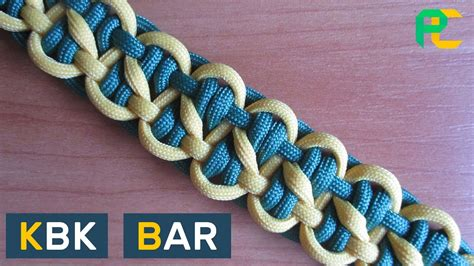 How to Tie a KBK Bar Paracord Bracelet without buckle   YouTube