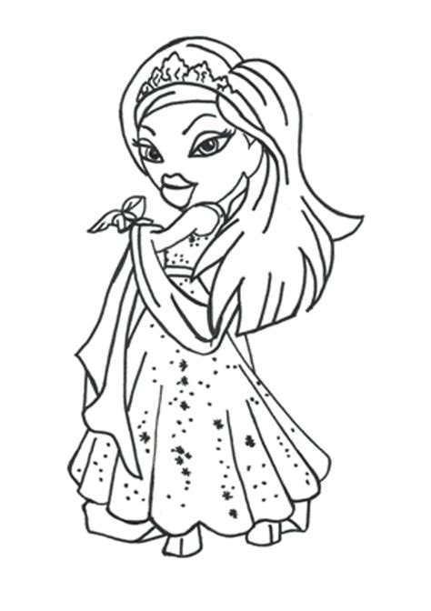 Bratz Coloring Pages To Print Free For Girls Coloring Point Bratz Coloring Pages For Free