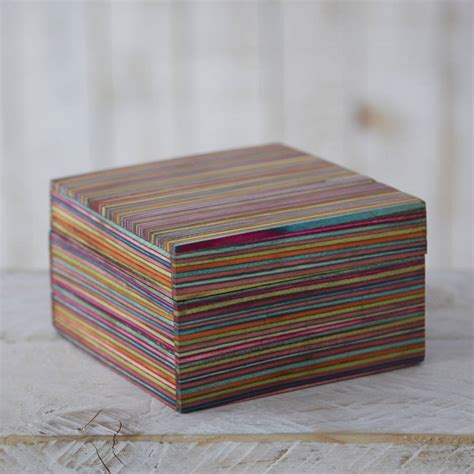Handcrafted Boxes - dhari handcrafted striped trinket box by paper high