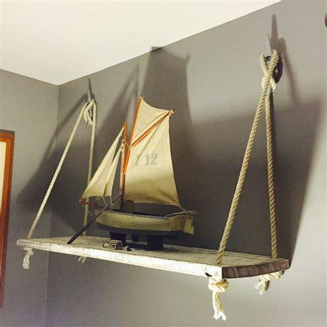 boat rope cleat rustic nautical barn wood rope boat cleat wall shelf diy