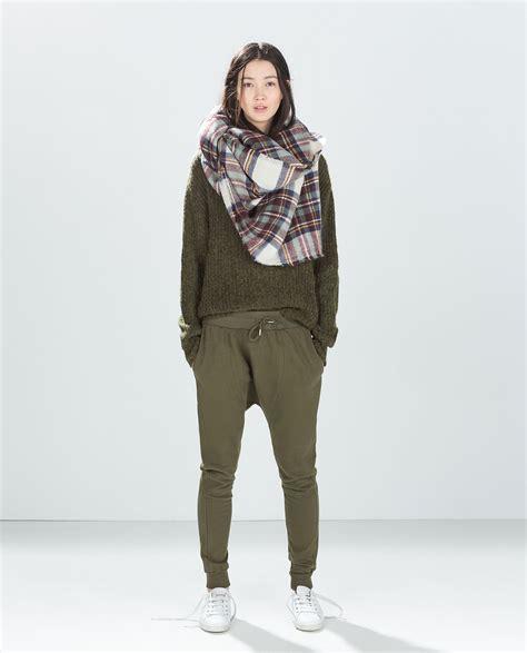 Joggerpant Zara Denim zara baggy in green lyst