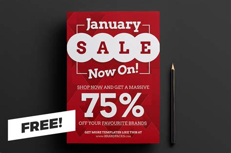 sale poster template free free january sale poster template designercandies