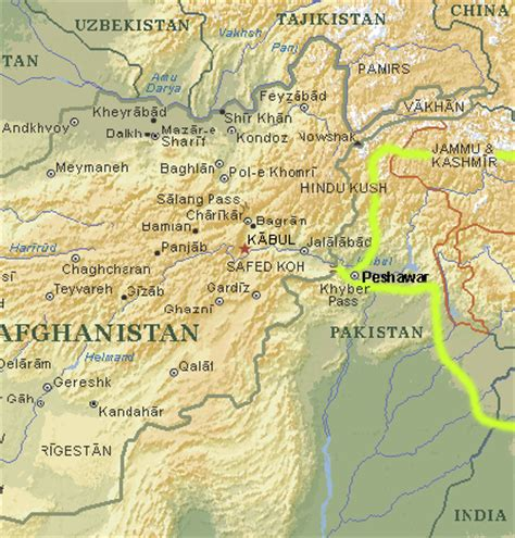 middle east map khyber pass india pakistan 2001 photos