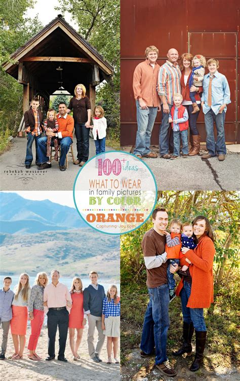 best colors to wear for pictures family picture clothes by color series orange capturing