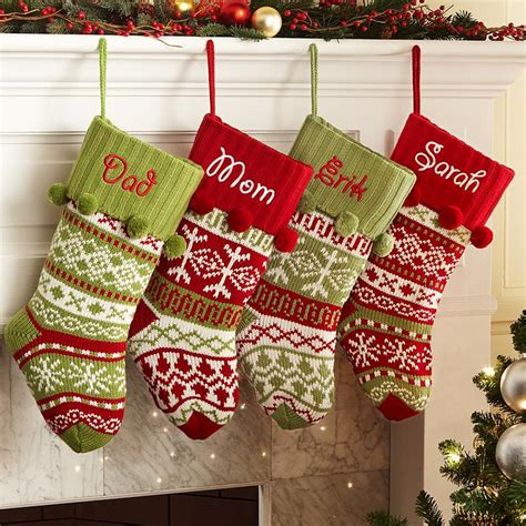 monogrammed christmas stockings personalized christmas stockings at personal creations