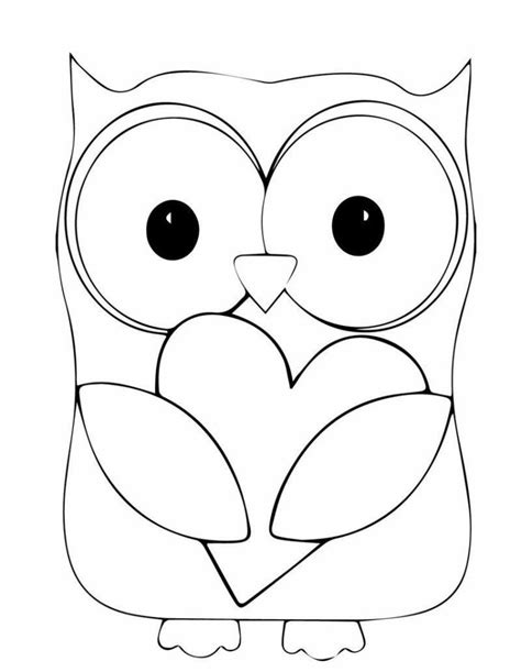Printable Owl Holding A Card From Template Large by Dessin Hibou 224 Imprimer Et Bricolage Chouette Pour Enfants
