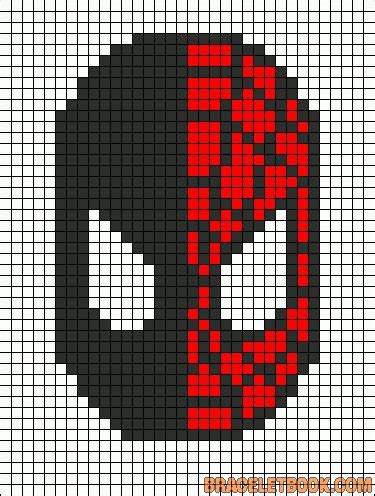 spiderman graph pattern 20 best images about super hero pixel art templates on