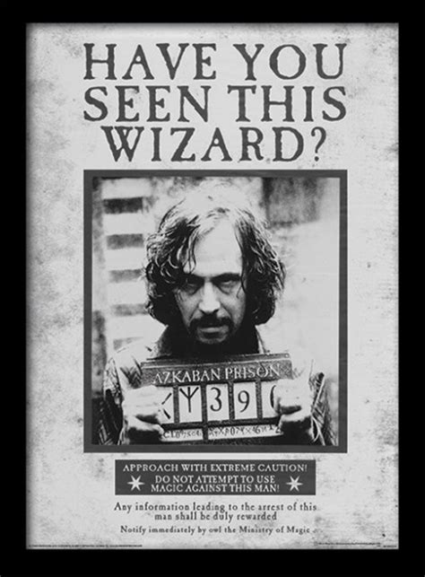 Harry Potter - Sirius Wanted Framed poster | Buy at