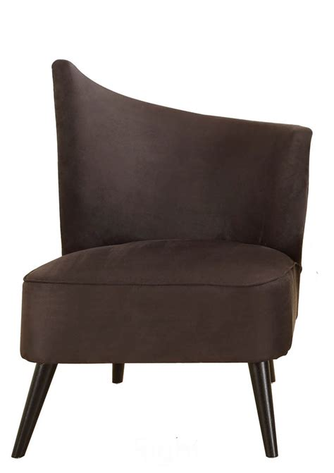 Microfiber Accent Chair Accent Chair With Right Flared Back Black Microfiber Lc2132mfblri Decor South