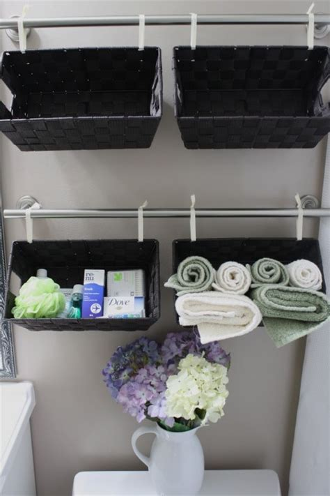 hanging baskets for bathroom 42 bathroom storage hacks that ll help you get ready faster