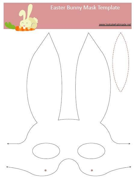 printable hare mask easter bunny mask template easter bunny mask or splicer