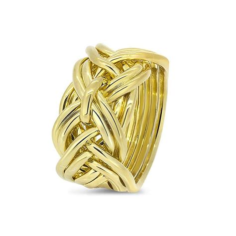 mens gold 9wd m puzzle rings creations