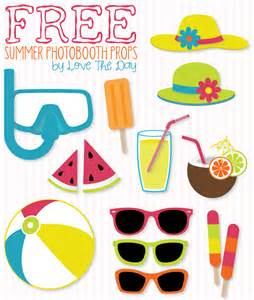 free beach party printables summer photo booth party printables