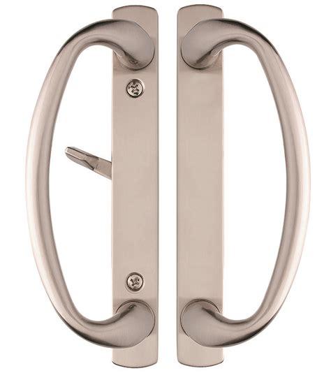 Interior Door Handles Brushed Nickel Sliding Patio Door Handle Set In Brushed Nickel Finish