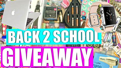 Youtube Giveaways 2016 - huge back to school giveaway 2016 youtube