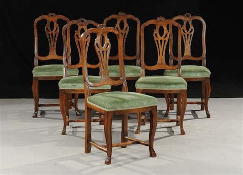 sedie luigi xv sei sedie in stile luigi xv in noce veneto xix